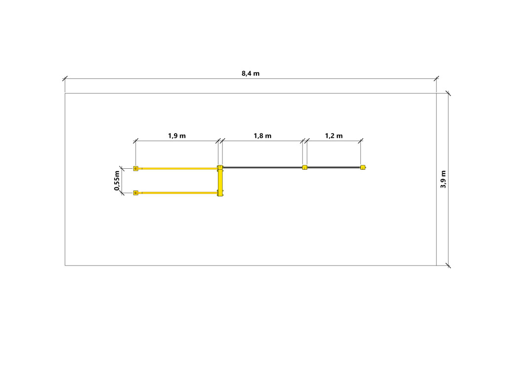 Line XS - FlowParks - safety zone