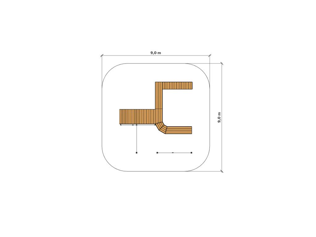 Safety zone - Larix parkour park C