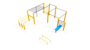 Flow park for street workout training